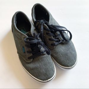 Vans Gray Atwood Laced Sneaker Youth 4.5